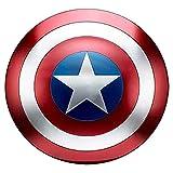 47cm Escudo Capitan America Metal 1: 1 Adulto Apoyos De PelíCula NiñOs Hierro Forjado CapitáN AméRica Shield CapitáN Disfraz De Metal Shield, DecoracióN De Pared De Bar Retro