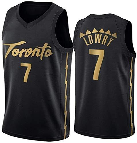 QWERT Kyle Lowry-Baloncesto Jersey, Toronto Raptors de la Aptitud Deportiva Transpirable de Secado rápido Alero Jersey (Color : A, Size : L)
