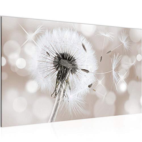 Bild Blumen Pusteblume Wandbild Vlies - Leinwand Bilder XXL Format Wandbilder Wohnzimmer Wohnung Deko Kunstdrucke Braun 1 Teilig - MADE IN GERMANY - Fertig zum Aufhängen 211214b
