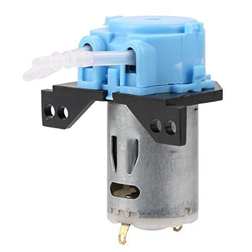 Bomba de dosificación perisáltica DC 12 V/24 V - Cabezal de tubo peristático para análisis químico de laboratorio de acuario (azul 12 V, 2 x 4)
