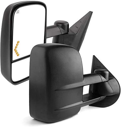 YITAMOTOR Towing Mirrors Compatible with 07-14 Chevrolet Silverado GMC Sierra Cadillac Yukon Tahoe...