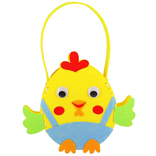 Lipeed Bolsas de regalo con conejos de Pascua, huevos de caza, bolsas de regalo para rellenar, bolsa de Pascua con pollitos y forma de conejo, fiesta de Pascua, regalo para huevos de Pascua, juguetes