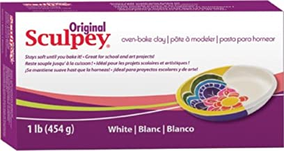 Scupley Oven Bake Clay, White