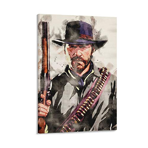 zhixuan Arthur Morgan Poster Decorative Oil Painting Canvas Wall Art Living Room Posters Bedroom Painting 24×36inchs(60×90cm)