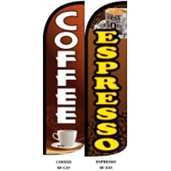 Espresso Cafe Advertising Feather Banner Swooper Flag Sign Replacement Flag Only