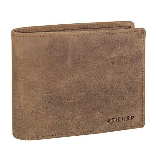 STILORD 'Lewis' Leder Portemonnaie Herren RFID Schutz Geldbörse für Männer viele Karten Fächern Brieftasche im Querformat mit Geschenkbox, Farbe:Torino - braun