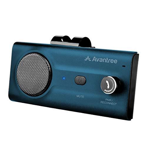 Avantree CK11 Kfz Bluetooth 5.0 Freisprecheinrichtung Freisprechanlage Car Kit für Sonnenblende, Lauter Lautsprecher, Siri Google Assistant Unterstützung, Lautstärkeregler, Auto Power On - Blau