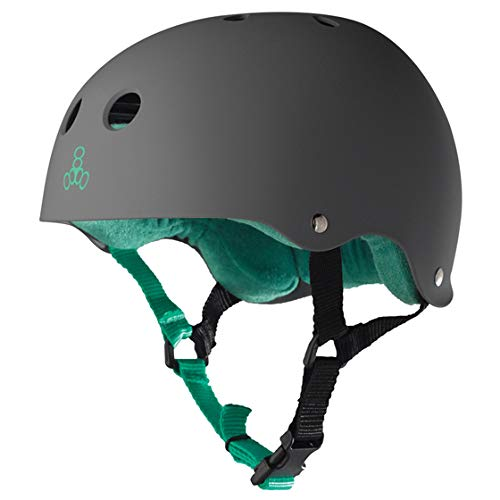 Triple 8 Brainsaver Sweatsaver Helmet Carbon Rubber L