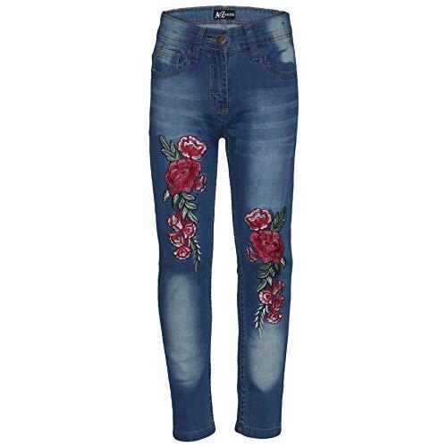 A2Z 4 Kids A2Z 4 Kids® Kinderen Meisjes Rekbaar Mid Blauw Jeans Ontwerper - Girls Jeans JN26 Mid Blue_5-6