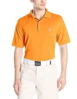 Men s Golf Polo Shirt Quick Dry Athletic Fit Tech Performance Lightweight Wicking Size XXXXL Orange