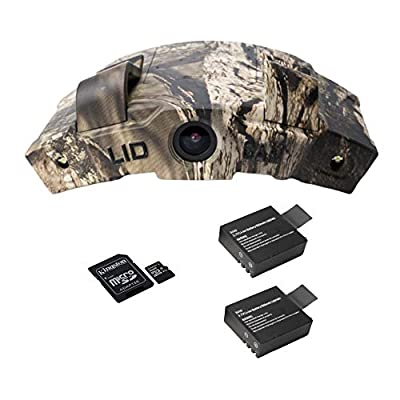 LiDCAM LC-WF Hands Free Digital Camouflage Action Camera with 16gb microSD Card and Extra Battery, 1080P HD Wi-Fi with Full Audio by LiDCAM