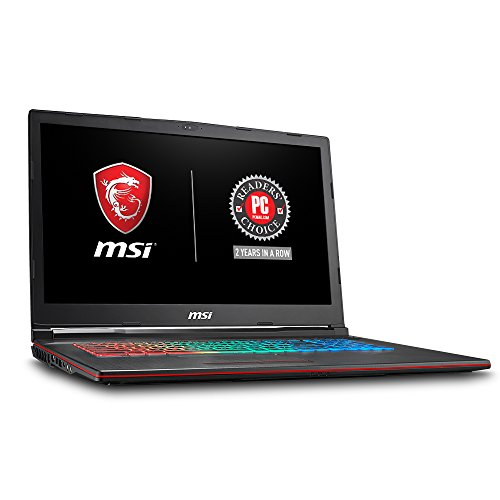 MSI GP73 Leopard-209 17.3' Thin and Light Gaming Laptop GTX 1070 8G i7-8750H (6 Cores) 16GB 256GB SSD + 1TB Windows 10, VR Ready, Windows 10 64 bit
