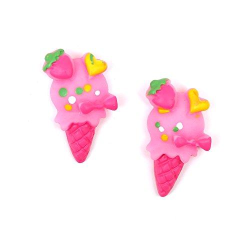 Idin Orecchini a clip - Rosa cono gelato (ca. 13 x 23 mm)