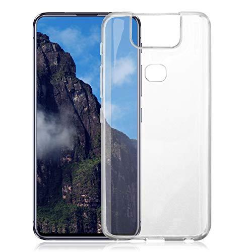 ROVLAK Custodia per ASUS Zenfone 6 Case Trasparente con Funzione Anti-Ingiallimento Cover Slim TPU Silicone+Custodia Resistente per ASUS Zenfone 6 Smartphone Case