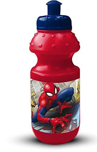 Star Spiderman Petite Gourde en Plastique avec Bouchon