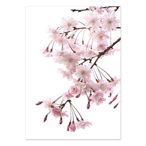 U/N Sakura Fleur Rose Art Mural Affiches et Impressions Citation peinture Sur Toile peintures murales pour Salon Maison-8