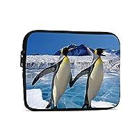 ブリーフケース タブレットケース インナーバッグ ラップトップケース Pcケース ペンギン柄 撥水加工 軽量 360°保護 耐衝撃 7.9インチ-9.7インチ 就活 通学 男女兼用 ビジネス