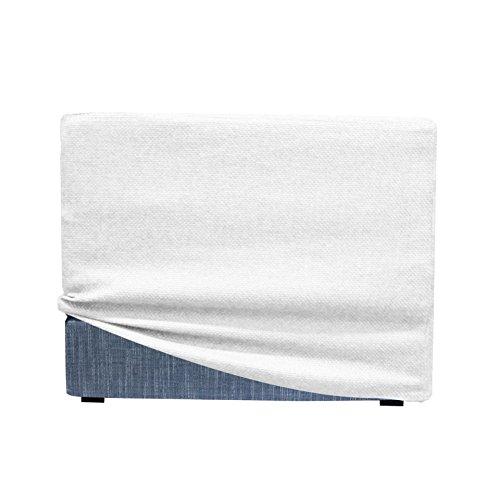 Arketicom Fodera di Rivestimento Copri Pouf per TOUF Pouf Letto Bianco 63x63x45 cm