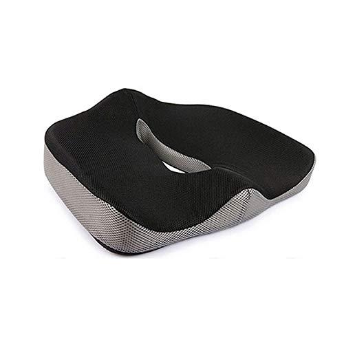 Cojines La salud del asiento con memoria for sillas de oficina espuma almohada ortopédica del cojín del asiento de coche Hemorroides Tratar cojín grande alivio del dolor en el cóccix almohadas - cojin