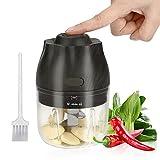 Mini Tritatutto Elettrico Upkey Mini Robot da Cucina 250ml con USB Ricaricabile Tritatutto da Cucina Elettrico Mixer Cucina per Alimenti Trita Verdure Frullatore Multifunzionale per Bambini Frutta