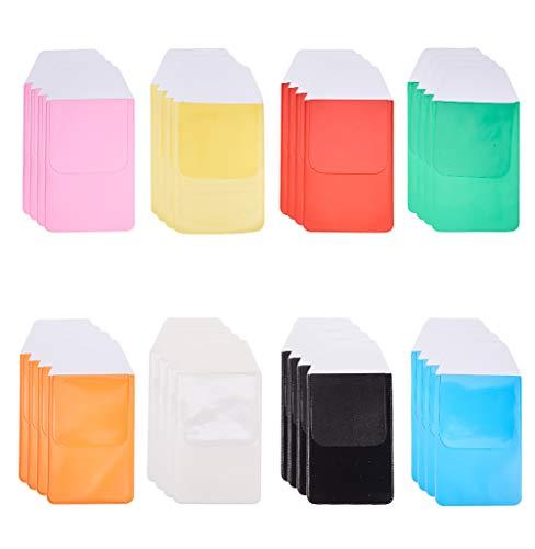 WANDIC Protector de Bolsillo, 32 Piezas de Colores Variados dedicados Pen Bag Escuela Hospital Oficina Suministros para Pen Leaks, 8 Colores