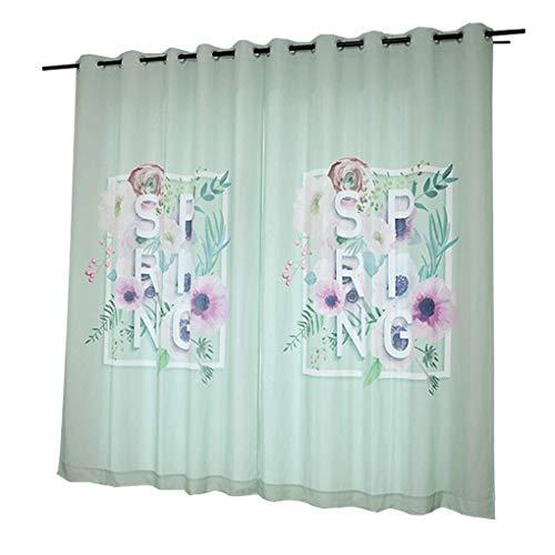 R&LL gordijn Nordic stijl gordijnen frisse woonkamer gordijnen kant-en-klare verduistering slaapkamer gordijnen (grootte: breedte 250 hoogte 265cm (gordijn) 2) Width 150*height 265cm 6