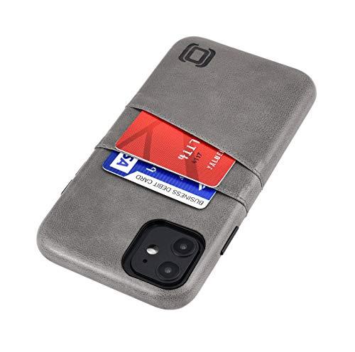 Dockem Exec M2 Funda Cartera para iPhone 11 (6.1): Funda Tarjetero Slim con Placa de Metal Integrada para Soporte Magnético: Serie M [Gris]