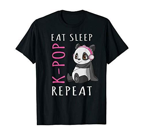 Eat Sleep Kpop Repeat Kpop Panda Shirt For Girls Tee Tshirt