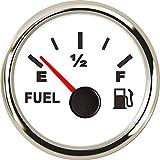 Aoditeck Fuel Gauge for Boat Car Truck Vehicles Diesel Aftermarket Gauge Boat Marine Gauge Automotive Replacement Fuel Level Gauge Gas Diesel Vehicle SUV Truck Fuel Gauge 240-33ohm with Backlight