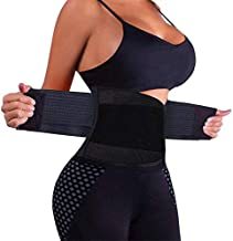 VENUZOR Waist Trainer Belt for Women - Waist Cincher Trimmer - Slimming Body Shaper Belt - Sport Girdle Belt (UP Graded)(Black,X-Large)
