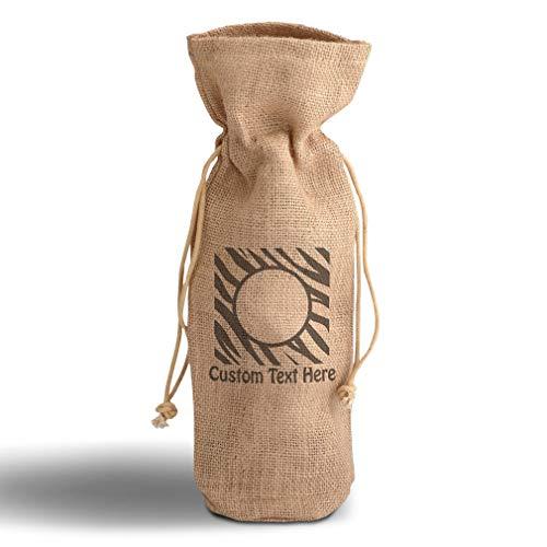 Cotton Custom Wine Gift Bag Board Design 10 Patterns Zebra Housewarming & Party Accessories Jute Burlap Drawstring Personalized Text Here