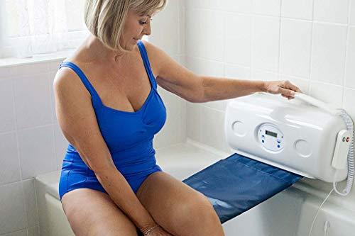 Relaxa Badewannenlifter einstiegshilfe für senioren | badewannenlift ausstiegshilfe | badehilfe für badewanne & lift für badewanne | badelifter badenlift mit akku - Blau