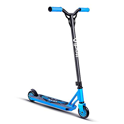 Photo of Albott Stunt Scooter Beginner to Immediate Trick Scooter Sport Street Kick Freestyle Scooter 360 Spin Handlebar Robust Aluminum Frame Stunt Scooters for Boys Girls Kids Children Teenager Age 7+, Blue