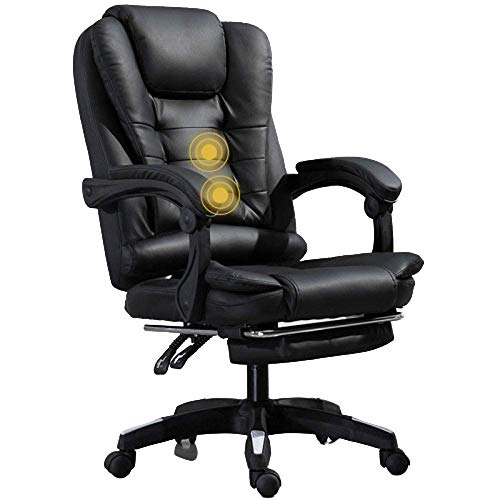 WSDSX Office Chairs Executive Office Chair, Durable and Stable, Height Adjustable with Massage Black