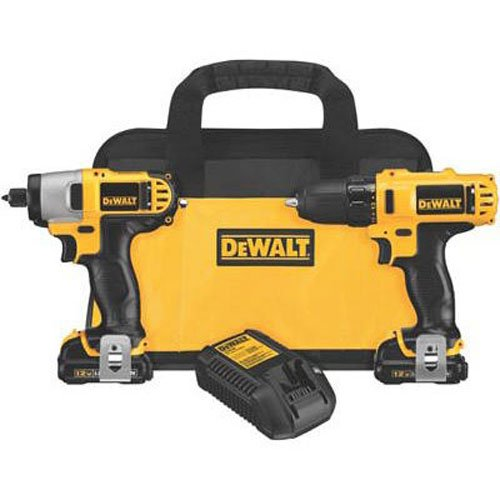 DEWALT DCK211S2 Drill and Impact Driver Combo, Set of 2 Pieces