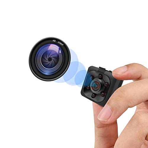 Mini Spy Camera, Hidden Camera 1080P, Nanny Cam Full HD with Night Vision Motion Activation for Indoor Outdoor Covert Security Cameras