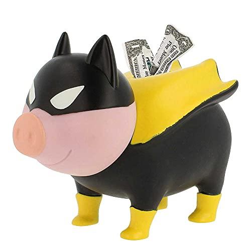 LILALU Sparschwein Superheld BIGGYS Hero - Spardose Superheld - Spardose groß Kopf drehbar - Sparschwein groß - Sparbox Sparbüchse - Spardose lustig - Piggy Bank Super Hero - Lustige Spardose