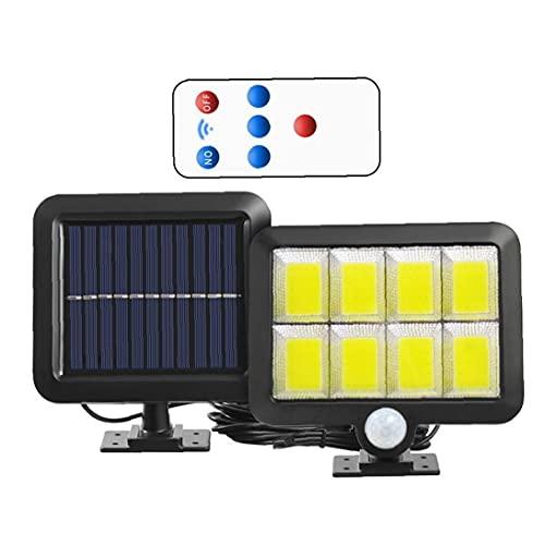 Yililay Luz Solar 160 COB Sensor de Movimiento Impermeable Lámpara de Pared Exterior con 3 Modos de Control