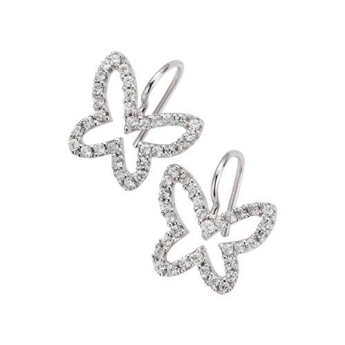 Giorgio Martello Milano Damen-Ohrhänger 925 Sterling Silber weiß 408879