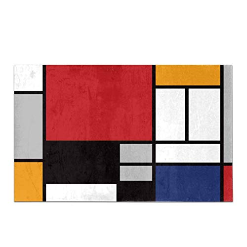 Piet Mondrian astratto rosso Old master painting 12X16 pollici Framed Art Print