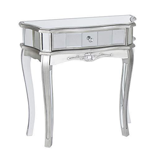 Melody Maison Half Moon Mirrored Console Table - Tiffany Range
