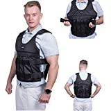 HunterBee Weight Vest Adjustable Weighted Workout Vests for Training Workout Fitness Running 110lbs,Unisex (not Included Steel Plate or Sand)