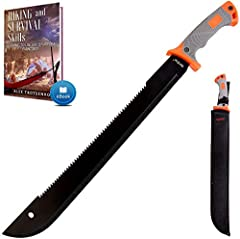 New outdoor experience: Grand Way survival black machete with sheath will be your best friend on any adventure! Tactical machete is not only a brush clearing knife, but also is a survival tool that will be indispensable while: Hunting, Hiking, Campin...