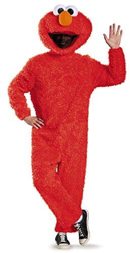 Disguise Elmo Prestige Herren-Kostüm aus Plüsch - Rot - X-Large