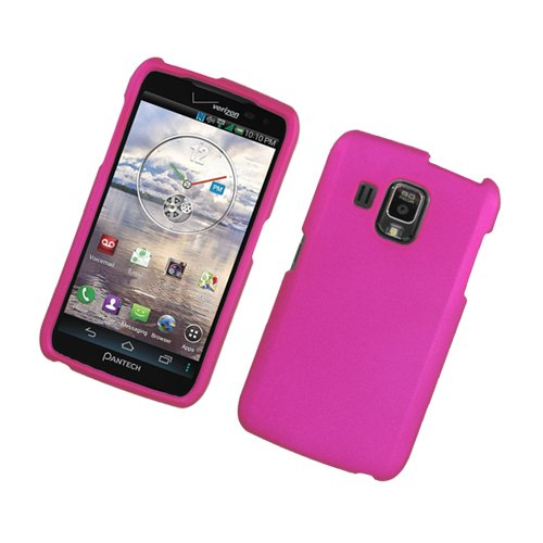 Pantech Perception case (Matte Pink) ICE-Clear(TM) Hard Plastic Shell Phone Cover+Touch Screen Stylus (for Pantech Perception R930L ADR930)