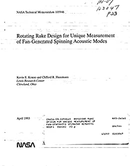 Rotating rake design for unique measurement of fan-generated ...