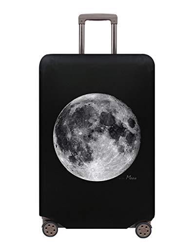 Lavabile Viaje Equipaje Cubierta Carretilla Caso Protectora Cubierta Cabe 18-32 Pulgadas Equipaje Elástico Funda Protectora de Maleta Luggage Protective Cover,S (18-21 Pulgadas),Moon
