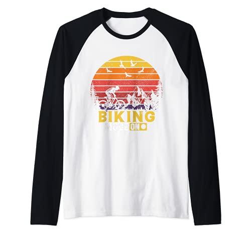 Modo de ciclismo en retro Camiseta Manga Raglan