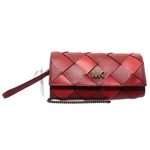 Michael Kors Damen Taschen Pochette 30H8BOXC3T Rot Multi Leder Neu