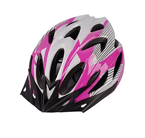 Casco Ligero de la Bicicleta de Casco de Casco Ligero para niños Mujeres para Hombre para la Seguridad en Bicicleta (se Adapta a los tamaños de Cabeza 48-52 cm) (Color : Pink)